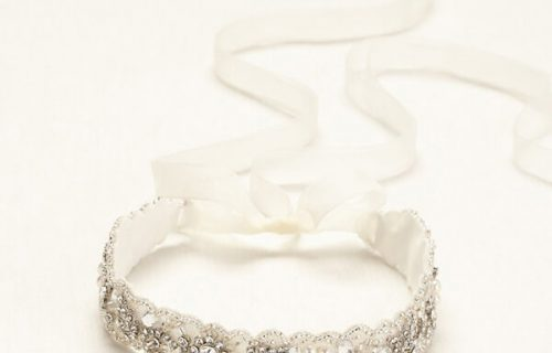 Headband With Ribbon Tie