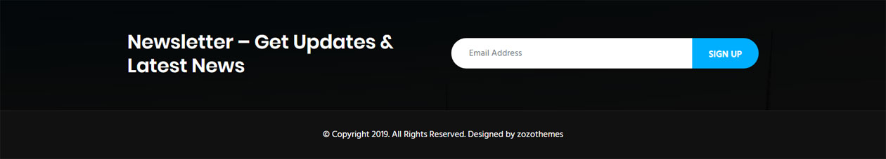 Real estate WordPress theme mail chimp newsletter ready