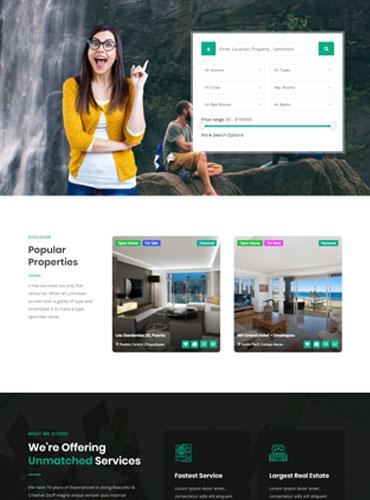 Real estate WordPress theme best design