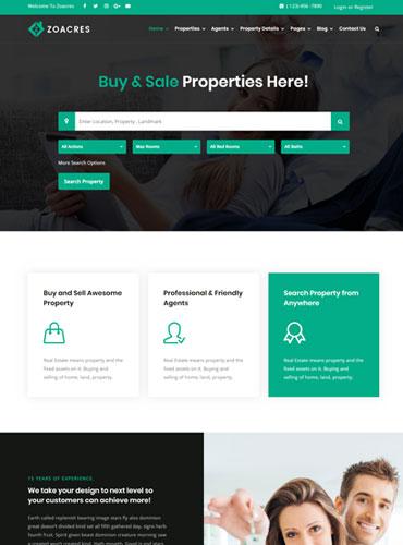 Real estate WordPress theme awesome design