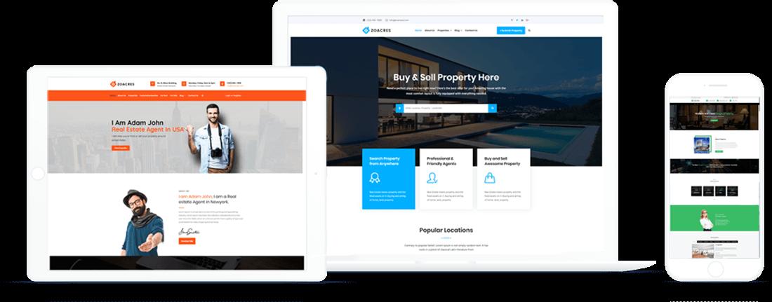 Zoacres - Advanced real estate WordPress theme