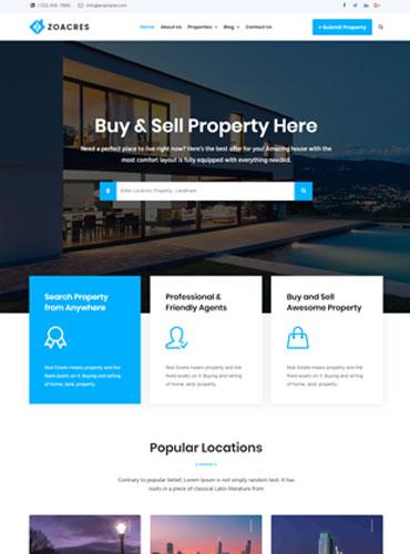 Powerful Real estate WordPress theme