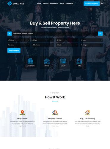 Agency Real estate WordPress theme