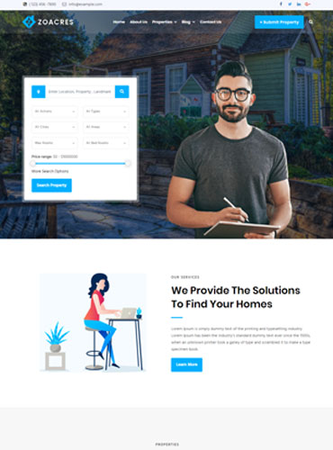 Agent Real estate WordPress theme