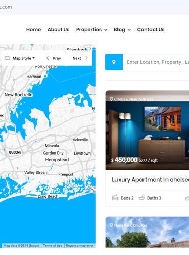 advanced filter Real estate WordPress theme