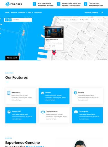 High performance Real estate WordPress theme