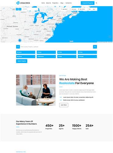 Advanced Real estate WordPress theme