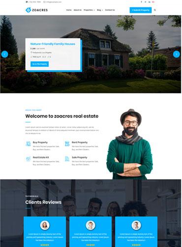 simple Real estate WordPress theme