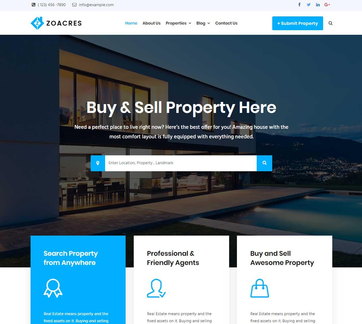 Most Advanced Real estate WordPress theme