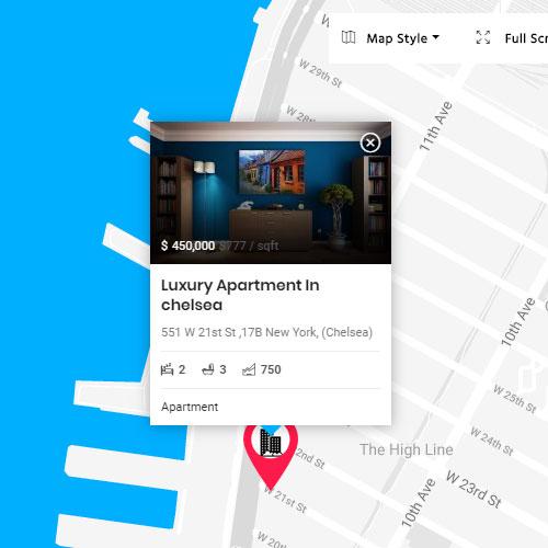 Real estate WordPress theme with advanced property search