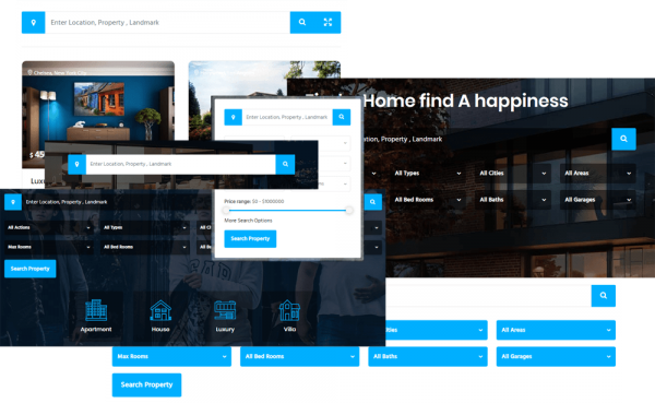 Real estate WordPress theme with most advanced search filter