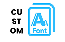we can import and use custom fonts